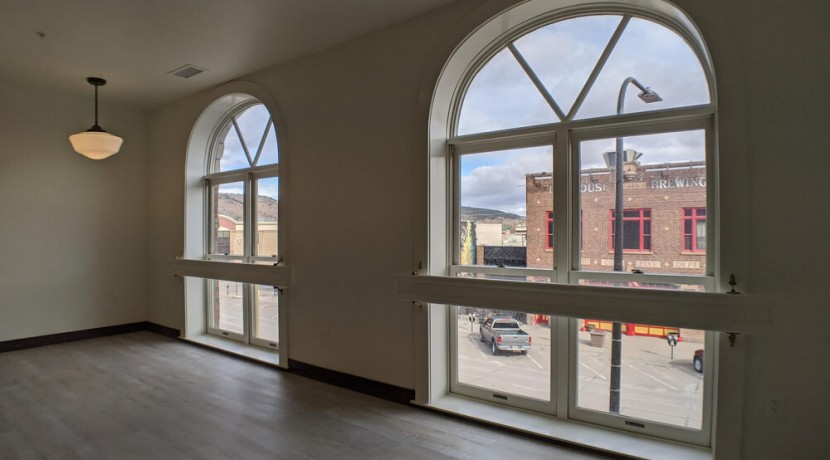 Windows overlooking Firehouse